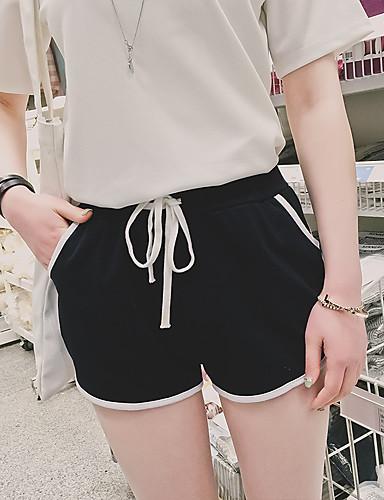 Kvinders Aktiv Shorts Bukser Mikroelastisk Bomuld