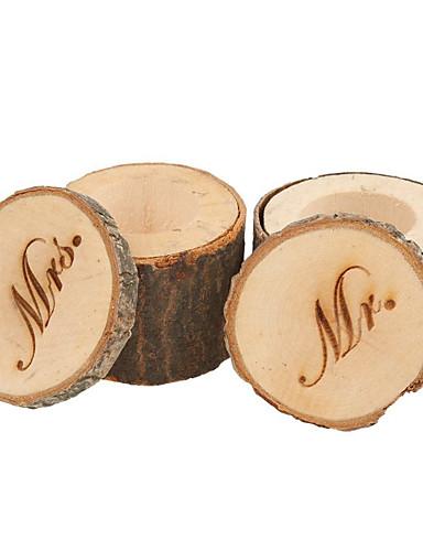 دائري مربع أسطوانة خشب صالح حامل مع طبع صناديق هدايا علب الهدايا - 2