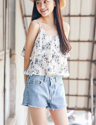 Kvinders Simpel Jeans Bukser Mikroelastisk Bomuld
