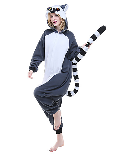 Adults  Kigurumi Pajamas Lemur Onesie Pajamas Polar Fleece Ink Blue Cosplay  For Men and Women Animal Sleepwear Cartoon Festival   Holiday Costumes 306e80c40