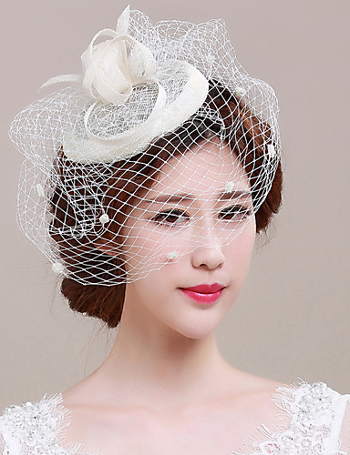 dd4baa1da4673 Tulle   Flax Fascinators   Birdcage Veils with 1 Wedding   Special Occasion  Headpiece