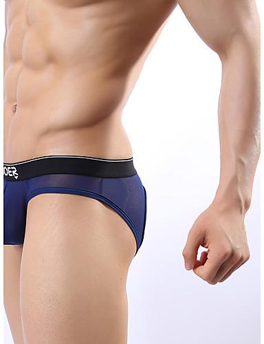 voordelige Herenondergoed & Zwemkleding-Netstof Netstof / Gat, Effen Slip Heren Medium Taille / Gat