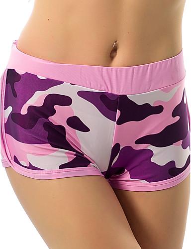 Dames Actief Medium taille Micro-elastisch Jeans Broek camouflage