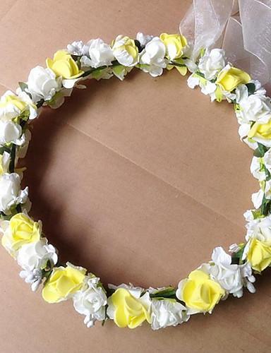 preiswerte Blumenmädchen-Schaum Kränze mit 1 Hochzeit Kopfschmuck
