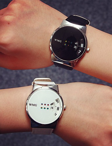 Mujer Reloj de Moda / Reloj de Pulsera Gran venta / / PU Banda Casual Negro / Blanco
