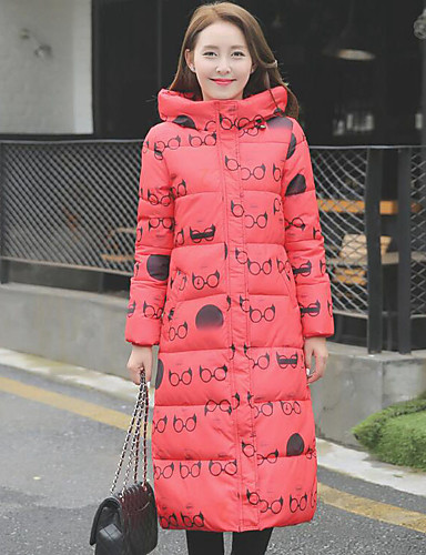 Langærmet Kvinders Frakke Vatteret Street Polyester