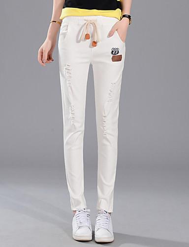Kvinders Simpel Tætsiddende Bukser Mikroelastisk Bomuld