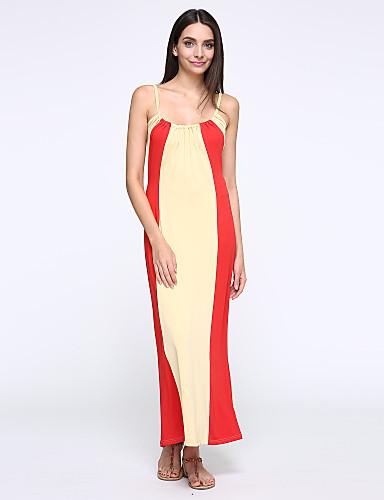 vrouwen kleur streep splicing hit condoleren riem vest jurk