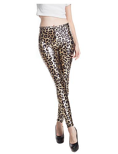 Dame Trykt mønster Tights - Leopard Medium Midje