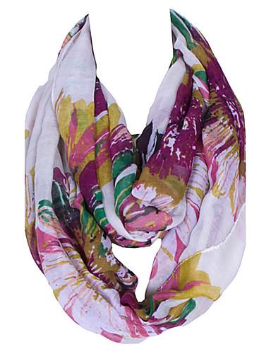 Damer Vintage / Sødt / Fest / Casual Polyester Halstørklæde-Trykt mønster Uendelighedshalstørklæde