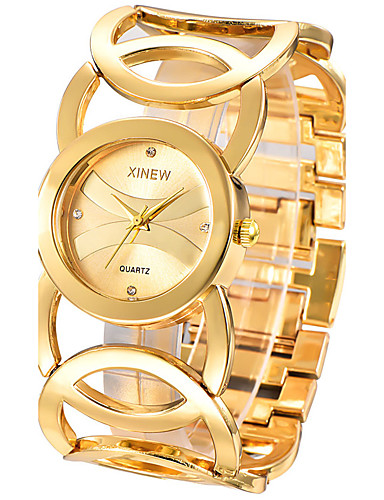 cheap Bracelet Watches-Women's Ladies Bracelet Watch Quartz Stainless Steel Silver / Gold Casual Watch Analog Bangle Fashion Elegant - Gold Black Silver One Year Battery Life / SSUO 377