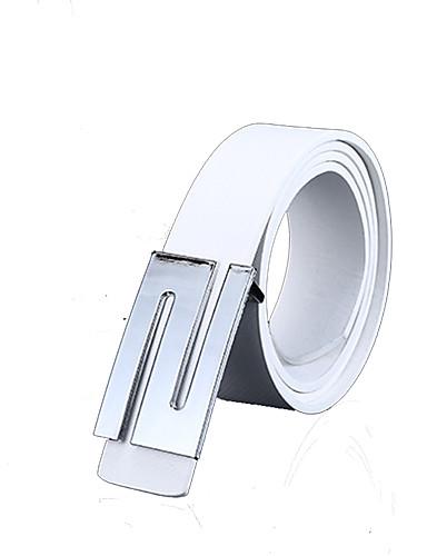 Unissex Cinto para a Cintura Trabalho / Casual Liga Couro Ecológico Unissex