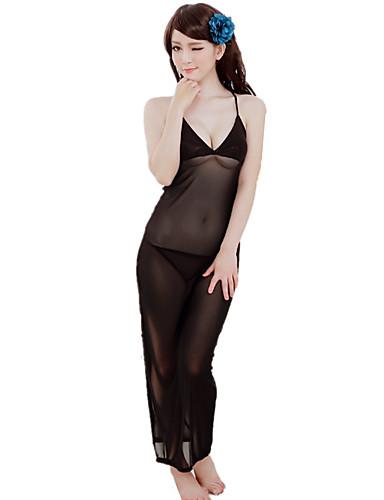 Dames Kostuum Nachtkleding-Effen Sexy Retro Rayon Nylon