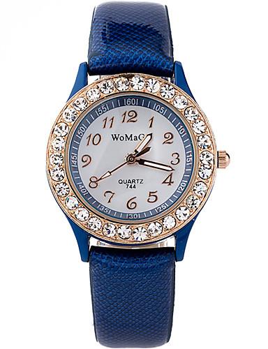 Damen Armbanduhr Quartz Strass Cool Imitation Diamant PU Band Analog Freizeit Modisch Schwarz / Weiß / Blau - Braun Rot Blau Ein Jahr Batterielebensdauer / SSUO LR626