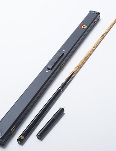 billige Billiard og pool-Omin snooker cue profesjonell 3/4 svart ibenholt rumpe aske aksel håndlaget biljard kø smaragd