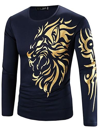 Heren Boho Print T-shirt, Sport Ronde hals Katoen