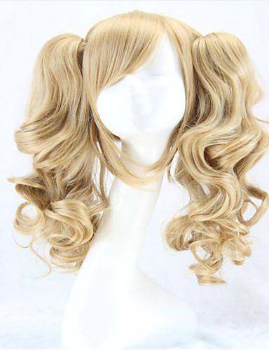 voordelige Cosplay Pruiken-Synthetische pruiken Kostuum pruiken Gekruld Stijl Met paardenstaart Zonder kap Pruik Blond Blond Synthetisch haar Dames Blond Pruik hairjoy