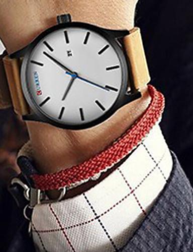 CURREN Heren Sporthorloge Dress horloge Modieus horloge Polshorloge Kwarts Japanse quartz Kalender Leer Band Luxe Vintage Informeel Cool
