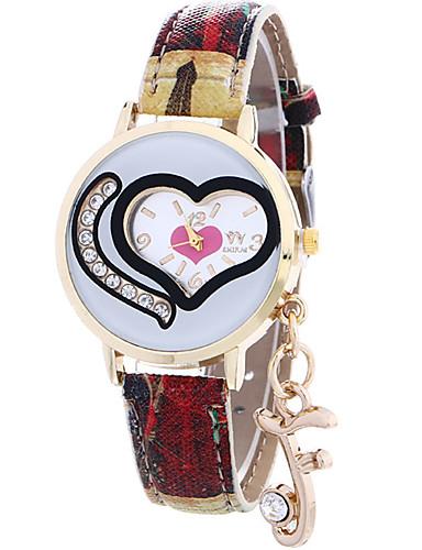 女性用 クォーツ リストウォッチ / ホット販売 レザー バンド Heart Shape カジュアル ファッション クール ブルー レッド グレー パープル