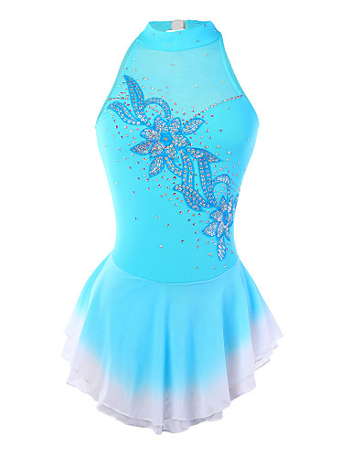 Figure Skating Dress Women's Girls' Ice Skating Dress Spandex Rhinestone Sequin Appliques Performance Skating Wear Handmade Fashion