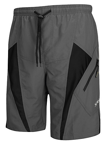 cheap Cycling Clothing-SANTIC Men's Cycling MTB Shorts - Grey Bike Shorts Padded Shorts / Chamois MTB Shorts, Breathable 3D Pad Quick Dry Polyester Spandex / Advanced Sewing Techniques