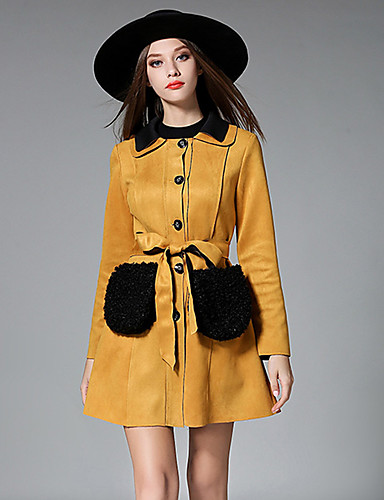 Maxlindy Women's Going out / Daily / Holiday Vintage / Street chic / Sophisticated Coat