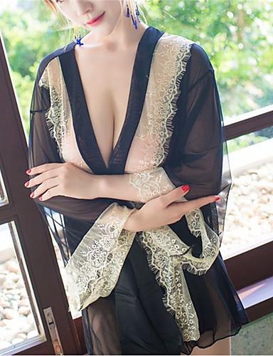 Vrouw Ultrasexy Nachtkleding,Sexy Patchwork-Gemiddeld Nylon Zwart