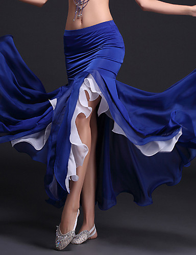 voordelige Shall We®-Buikdans Tutus & Rokken Dames Prestatie Polyester / Melkvezel Geplooid Natuurlijk Rok