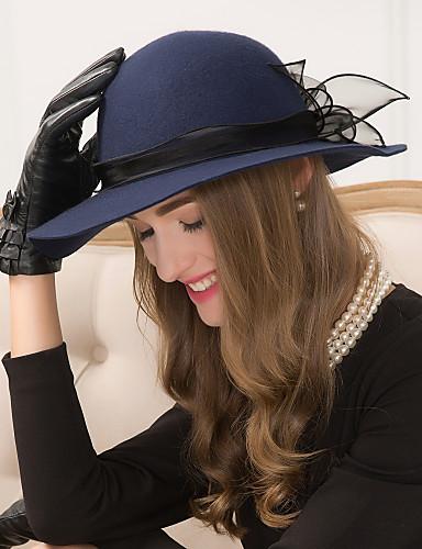 abordables Chapeau & coiffure-Laine / Tulle Fascinators / Chapeaux / Coiffure avec Fleur 1pc Mariage / Occasion spéciale / Décontracté Casque