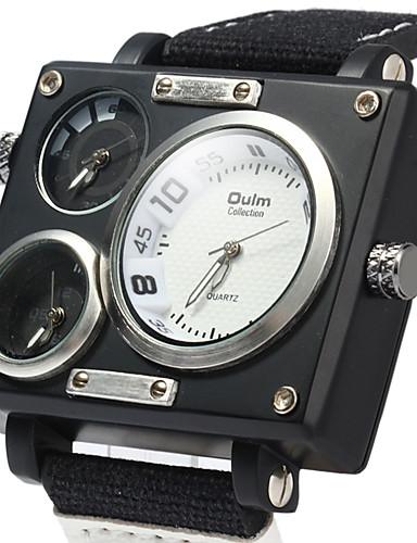 Pánské Sportovní hodinky Vojenské hodinky Náramkové hodinky Křemenný Černá    Bílá   Hnědá Kalendář Hodinky s dvojitým časem Cool Analogové Luxus  Klasické ... 37648bcd6b3