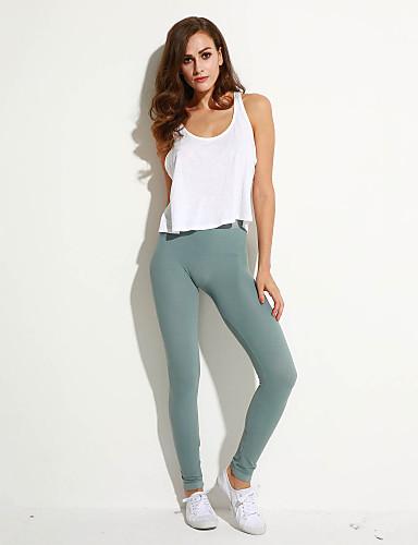 Feminino Cintura Alta Elástico Jeans Calças,Skinny Sólido