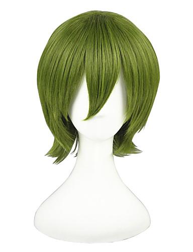 billige Cosplay og kostumer-Kuroko ingen Basket Midorima Shintaro Cosplay Parykker Herre Dame 14 inch Varmeresistent Fiber Grøn Anime