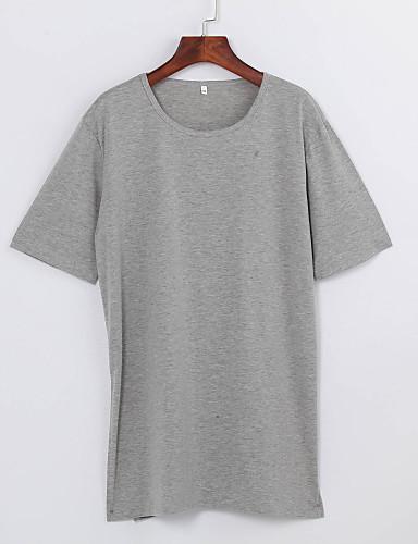 Bomull T-skjorte Dame - Ensfarget, Delt Fritid / Sommer