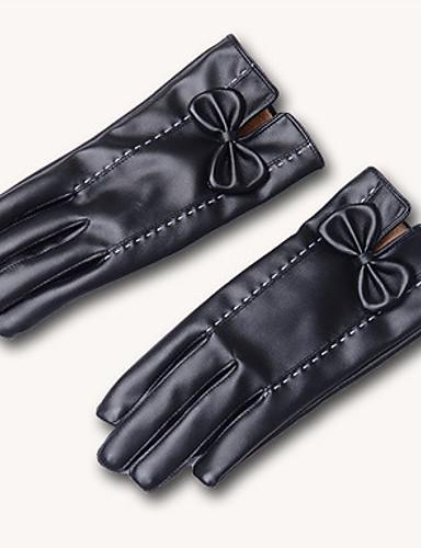 kvinner pu fingertuppene håndleddet lengde, solid uformell vinter