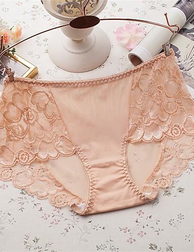 女性用 ウルトラセクシーショーツ ミディアム ナイロン オレンジ ベージュ パープル ピンク ライトブルー
