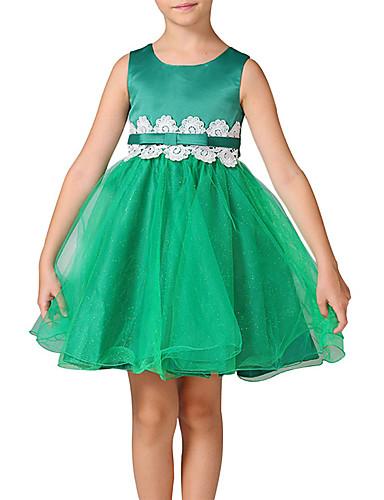 女の子の お出かけ カジュアル/普段着 ゼブラプリント カラーブロック パッチワーク ポリエステル ドレス オールシーズン ノースリーブ