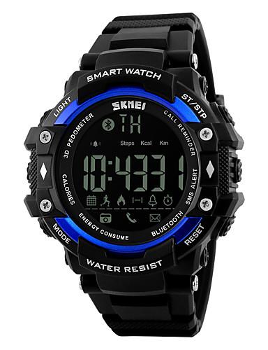SKMEI Hombre Reloj Deportivo Reloj de Pulsera Digital Negro 30 m Resistente al Agua Despertador Calendario Digital Lujo - Negro Plata Azul Dos año Vida de la Batería / Cronógrafo / Control remoto