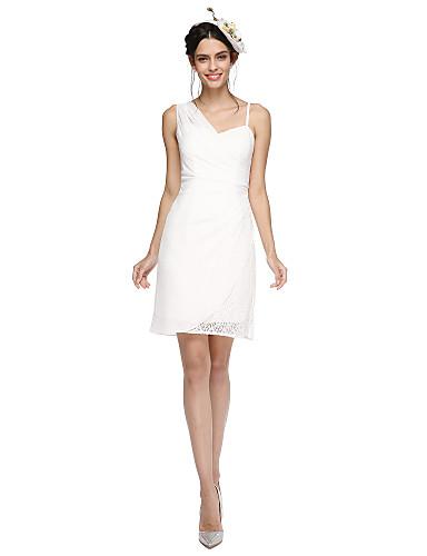 Eng anliegend Riemen Kurz / Mini Chiffon Spitze Cocktailparty / Abschlussball / Abiball Kleid mit Plissee durch TS Couture®