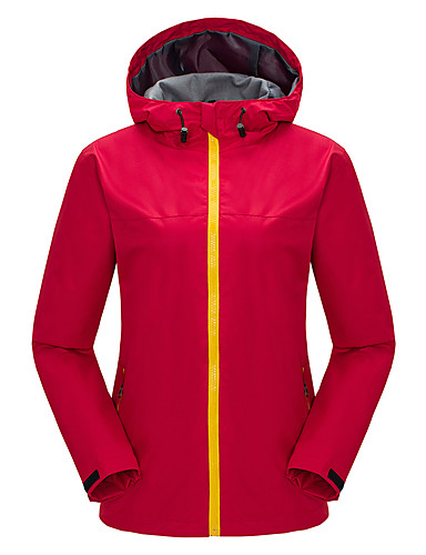 cheap Outdoor Clothing-Women's Softshell Jacket Outdoor Waterproof Thermal / Warm Windproof Fleece Lining Spring Fall Winter Tracksuit Skiing Camping / Hiking Leisure Sports Black Fuchsia Light Red L XL XXL