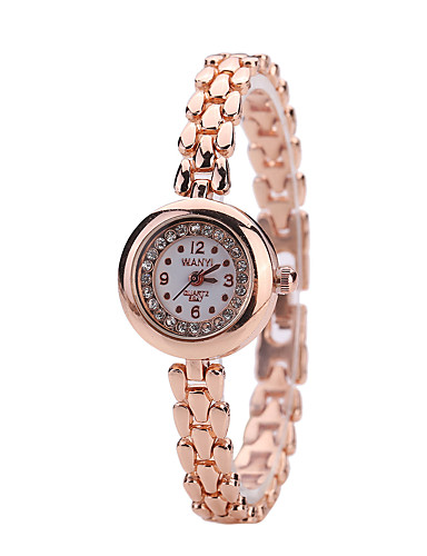 Mulheres Relógio de Moda / Relógio de Pulso Lega Banda Ouro Rose