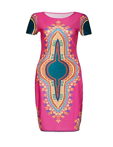 فستان نسائي ثوب ضيق راقي طول الركبة هندسي مناسب للحفلات