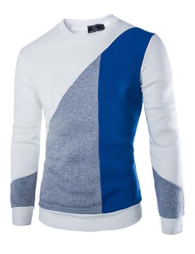 Herren Pullover Lässig/Alltäglich Solide Einfarbig Rundhalsausschnitt Mikro-elastisch Baumwolle Lange Ärmel Winter
