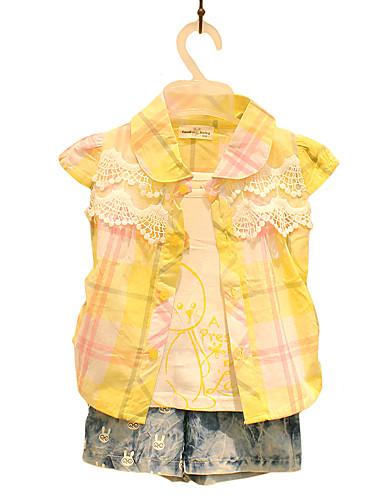 Mädchen Hemd Ausgehen Lässig/Alltäglich Patchwork Baumwolle Sommer Kurzarm Normal