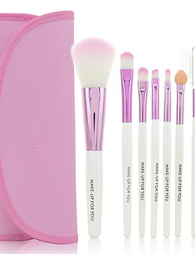 abordables Make-up For You-Profesional Pinceles de maquillaje Sistemas de cepillo 7pcs Antibacteriano Pelo Sintético / Pincel de Fibra Artificial Pinceles de Maquillaje para Set de Pinceles de Maquillaje