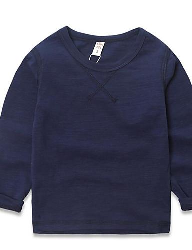 Jungen T-Shirt Lässig/Alltäglich einfarbig Kunstseide Frühling