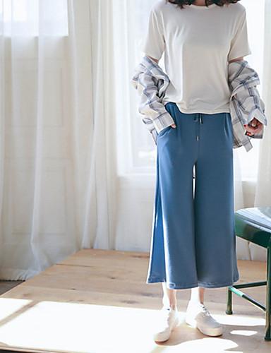 Damen Solide Gestreift Einfach Aktiv Lässig/Alltäglich Hemd,Hemdkragen Frühling Langarm Weiß Baumwolle Dünn