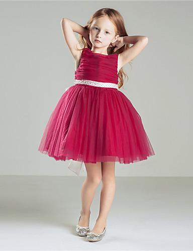 プリンセス ジュエル 膝丈 コットン クレープ リボン ピックアップスカート とともに フラワーガールドレス 〜によって
