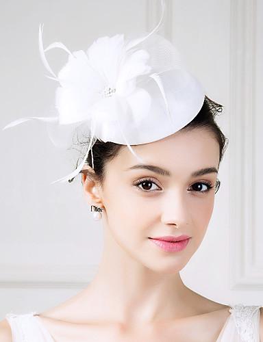 abordables Chapeau & coiffure-Tulle / Lin / Plume Fascinators / Fleurs avec 1 Mariage / Occasion spéciale / Décontracté Casque