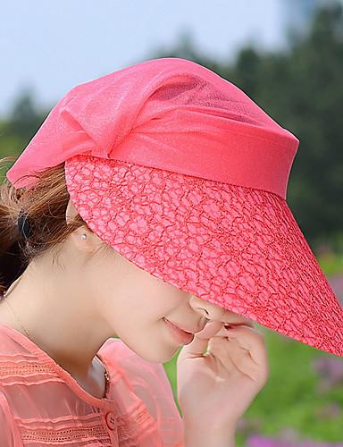 Damen Niedlich Party Freizeit Frühling Sommer Herbst Spitze Baumwolle Sonnenhut,Druck