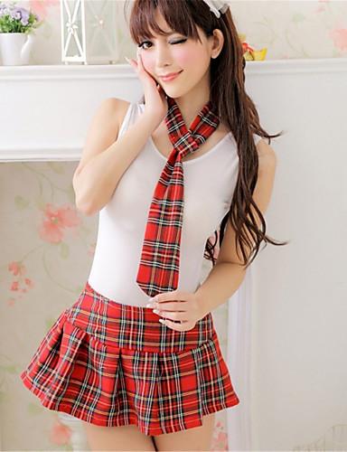 Dame Store størrelser Dress Uniformer og kinesiske kjoler Ultrasexy Nattøy - Ruter